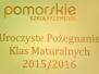 29.04.2016 - Zakończenie roku klas maturalnych